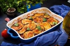 Oberżyny Parmigiano oberżyny potrawka Zdjęcie Royalty Free