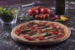Oberżyny pizza Zdjęcia Royalty Free