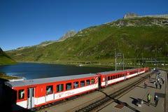 Oberalppass Urner Alpen, Schweiz Arkivfoton