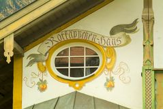 oberamergau σπιτιών της Γερμανίας π&omicron Στοκ εικόνες με δικαίωμα ελεύθερης χρήσης
