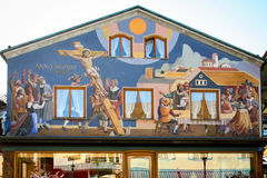 Oberammergau in the Bavarian Alps, Bavaria. Stock Photography