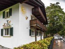 Oberammergau houses Stock Image