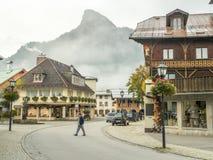 Oberammergau miasta sceny fotografia stock