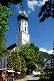 Oberammergau. The town of Oberammergau is located in the district of Garmisch-Partenkirchen in Bavaria, Germany. The town is famous for its production of a stock photography