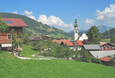 Oberau,Wildschoenau,Tirol,Alps,Austria. Idyllic Village of Oberau in Wildschoenau,Tirol,Alps,Austria Royalty Free Stock Images