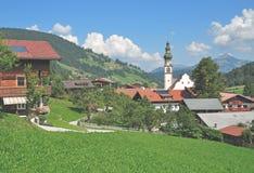 Oberau, Wildschoenau, Tirolo, alpi, Austria Immagini Stock Libere da Diritti