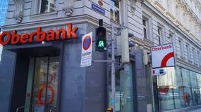 Oberbank in Vienna stock photo