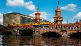 Oberbaum berliński most Zdjęcie Royalty Free
