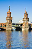 Oberbaum bridge in Berlin Stock Photo