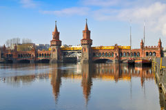 Oberbaum bridge berlin Stock Images