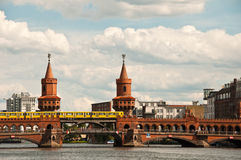 Oberbaum bridge, berlin Stock Image
