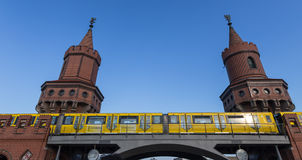 Oberbaum bridge in berlin germany Stock Photo