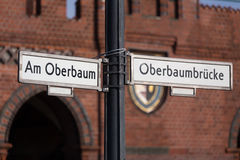 Oberbaum bridge in berlin germany Stock Photos