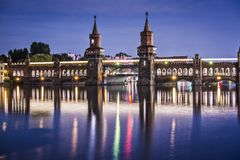 Oberbaum Bridge Stock Photography