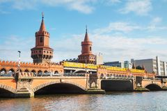 Oberbaum bridge in Berlin. Germany on a sunny day Royalty Free Stock Image