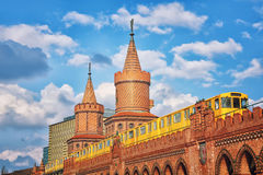 Oberbaum bridge in Berlin, Germany Royalty Free Stock Image