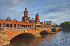 Oberbaum Bridge, Berlin. Royalty Free Stock Photo