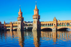 Oberbaum Bridge in Berlin Royalty Free Stock Photography
