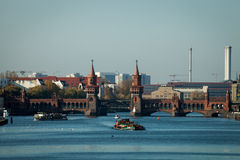 The Oberbaum bridge crossing the river Spree in Berlin Stock Images