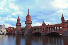Oberbaum bridge, Berlin Germany Stock Photos