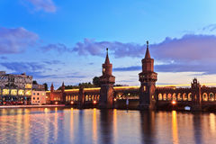 Oberbaum bridge, Berlin Germany Royalty Free Stock Photos