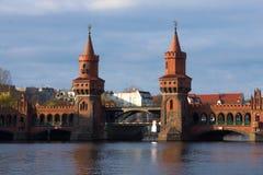 Oberbaumbrà ¼ cke Berlijn - Rode Brug Royalty-vrije Stock Foto