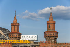 Oberbaumbrà ¼ cke w Berlin Zdjęcie Royalty Free