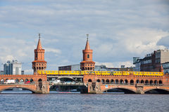 Oberbaumbrucke bridge across the Spree river in Berlin Stock Images