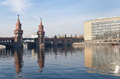 The Oberbaumbrucke bridge at Berlin, Germany Royalty Free Stock Images