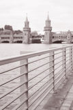 Oberbaumbrucke Bridge on River Spree, Berlin Stock Photos