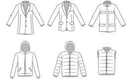 Oberbekleidungskleidung der Männer Lizenzfreie Stockbilder