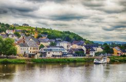 Oberbillig is the German town Stock Photography