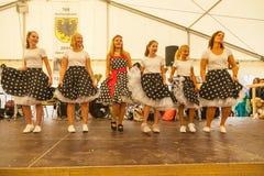 Fashion Show at 1250 years village celebration in Oberdigisheim stock photos