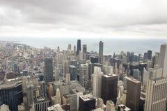 Obere Abdeckung Chicagos, USA Stockbild
