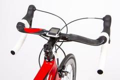 Obere Ansicht des Berufskohlenstoff-Rennrads Lizenzfreies Stockfoto
