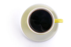 Obere Ansicht einer Kaffeetasse Stockfoto