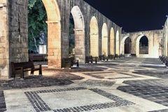 Obere Barakka-Gärten nachts Lizenzfreies Stockfoto