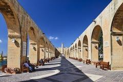Obere Barrakka-Gärten in Valletta, Malta Lizenzfreie Stockfotos