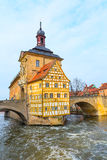 Obere bridge and Altes Rathaus in Bamberg, Germany Stock Photos