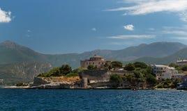 Obere Korsika-Küste lizenzfreie stockbilder