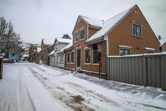 Obere Querneigungsstraße (Norweger: øvre bankegate) Lizenzfreies Stockfoto