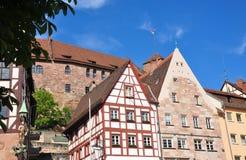 Obere Schmiedgasse w Nuremberg obrazy stock
