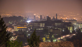 Obere Stadt Bergamo lizenzfreies stockfoto