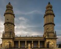 Obere Struktur von Jamia Masjid-Moschee, Mysore, Indien Stockbild