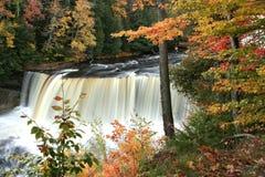 Obere Tahquamenon Wasserfälle Lizenzfreie Stockfotos