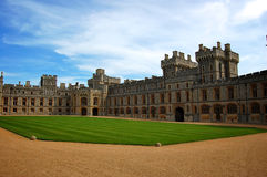 Oberer Bezirk am Windsor Schloss, England Stockfoto