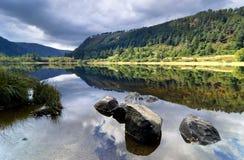 Oberer See in Glendalough Stockfotografie