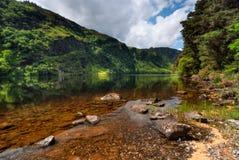 Oberer See in Glendalough Stockbilder