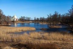 Oberer Teich-Park in Oranienbaum. lizenzfreies stockbild