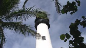 Oberer Teil von Kap Florida-Leuchtturm stock video